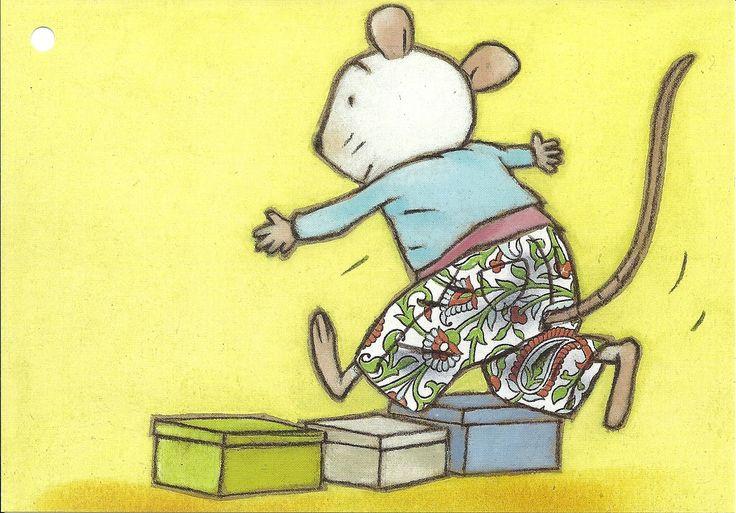 Bewegingskaart: springen over doos