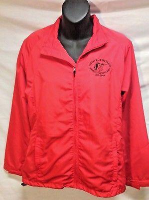 WOMENS FIGAWI YACHT RACE 2009 NANTUCKET RED PULL OVER WIND JACKET SMALL PT