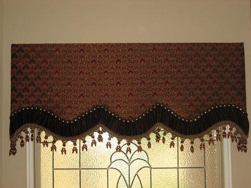 images of cornice boards | Custom Cornice board w/ nailheads - Kingston Custom Fabrics and ...