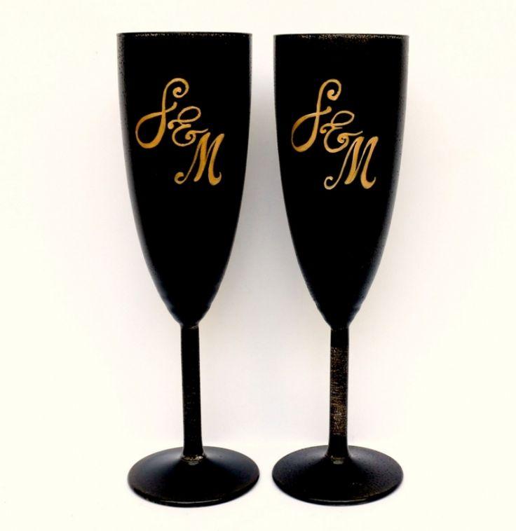 "Set+pahare+nunta+""Elegant+Black"""