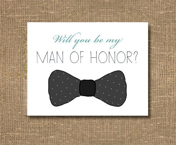 Will You Be My Man of Honor / Best Man / by RockCandieDesigns, $4.00