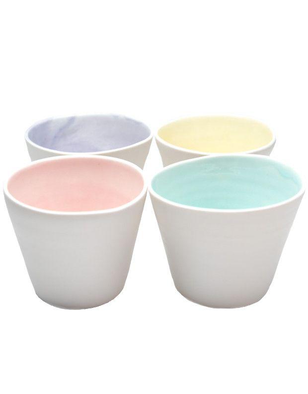 Pastel Sorbet Cup Set