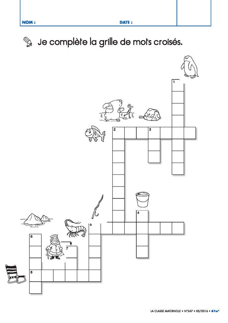 17 best images about jeux et autonomie on pinterest - Grille mots croises vierge ...