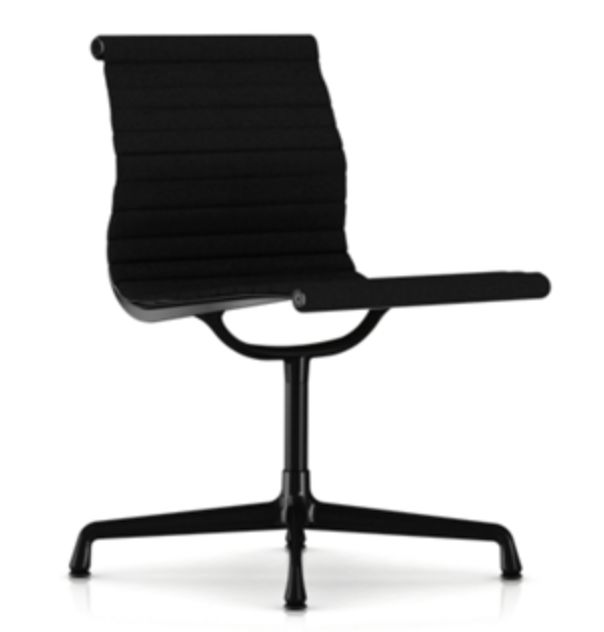 Eames Aluminum Chair in fabric.
