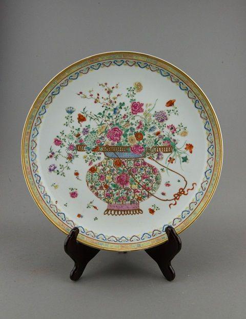 Lot 390Chinese Famille Rose Gilt Plate Guangxu Period$3000-$5000