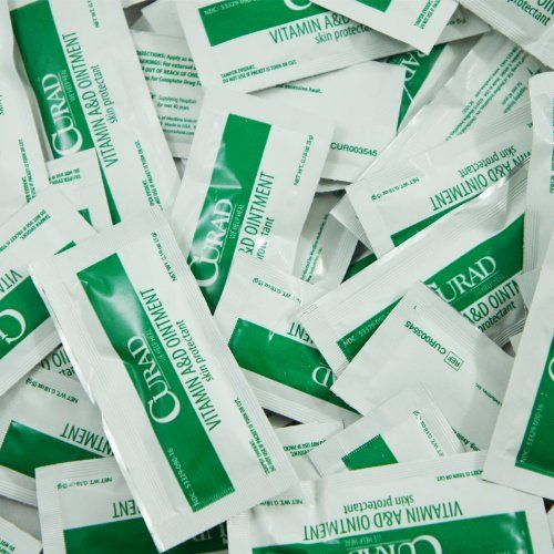 50 pc Curad Vitamin A&D Ointment Medline Skin Protectant 5g Foil Pack Cream Aftercare
