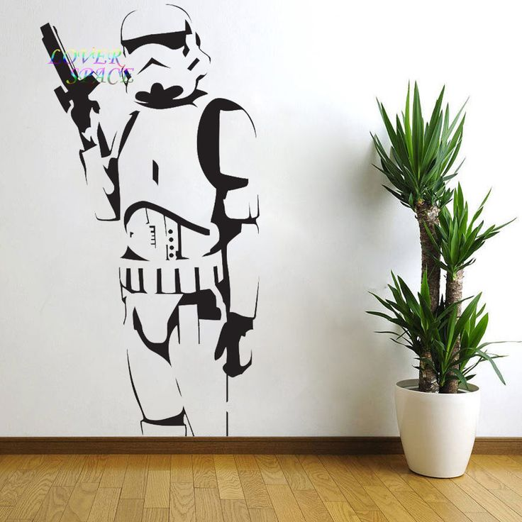 STAR WARS POSTER LARGE STORM TROOPER VINYL WALL STICKER WALL ART SILHOUETTE WALL  DECAL BIG MURAL Part 87