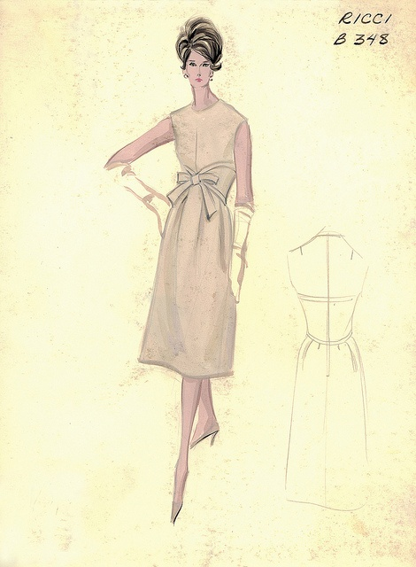 Ricci Day Dress by FIT Library Department of Special Collections, via Flickr
