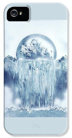 Ice Waterfall IPhone 5 / 5s Case Printed with Fine Art spray painting image Ice Waterfall by Nandor Molnar (When you visit the Shop, change the orientation, background color and image size as you wish)