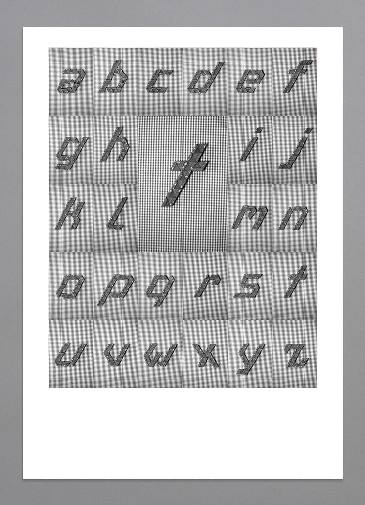 Yan Vuillème - Toblerone, Typeface from object