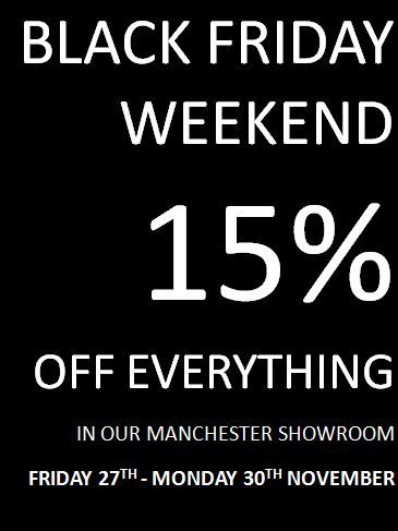 Save 15% of everything this #BlackFriday #Weekend in our Manchester Showroom.   #Interiors #InteriorDesign #Discount #Save #Black #Friday #Sofa #Table #Coffee #lighting #lamp #chairs #armchairs #urban #danish #design #manchester #mcr
