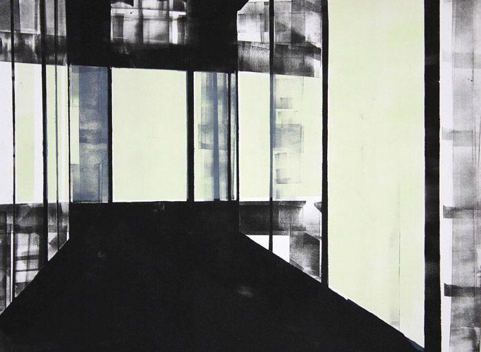 Corridors 3 (2011). Monotype