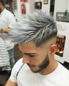 34 Men Grooming Mens hair colour, Hair styles hair color ideas for white hair - Hair Color Ideas Mens Hair Colour, Hair Color Dark, Cool Hair Color, Gray Color, Men Hair Color Highlights, Silver Highlights, Guys Hair Color, Hair Color Silver Grey, Blonde Color