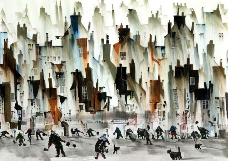 Watercolor paintings by Sue Howells (21 photos) - - Xaxor