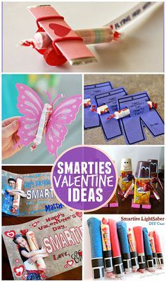Valentine Ideas for Kids Using Smarties (Classroom Candy Gifts) - Crafty Morning