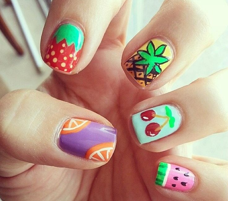 ☼ fruit nails in the summer ☼
