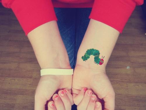 i would like a tattoo of the hungry caterpillar. haha teachingliteracy:  byAboveTheDarkSky