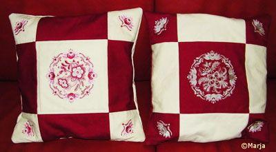 Delft Red Pillows