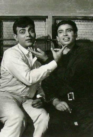 I.S.Johar with Mehmood.