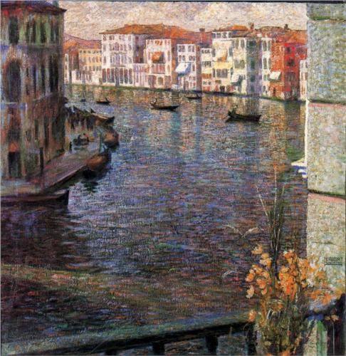 The Grand Canal in Venice - Umberto Boccioni