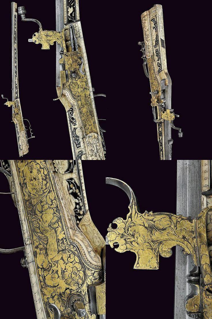 A beautiful wheel-lock gun, provenance: Germany dating: third quarter of the 17th Century.