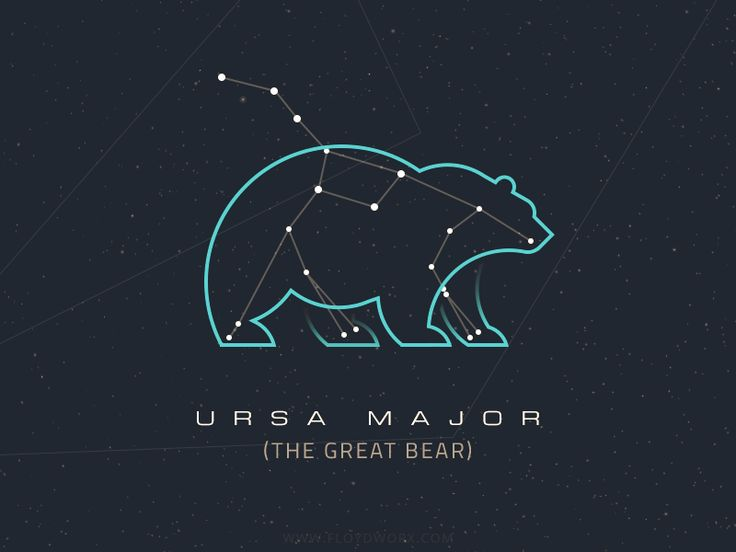 Constellations - Ursa Major by Csaba Gyulai #Design Popular #Dribbble #shots