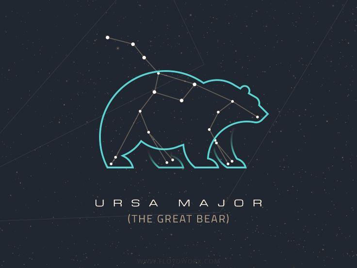 Constellations - Ursa Major by Csaba Gyulai #Design Popular #Dribbble #shots