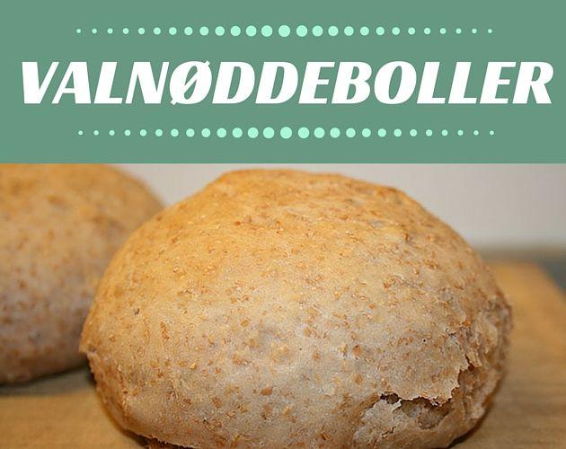 Dejlige boller med valnødder, som skaber et herligt bid og en rigtig god smag.