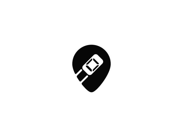 Destination Mark / logo for similar application like UBER. Color version attached.