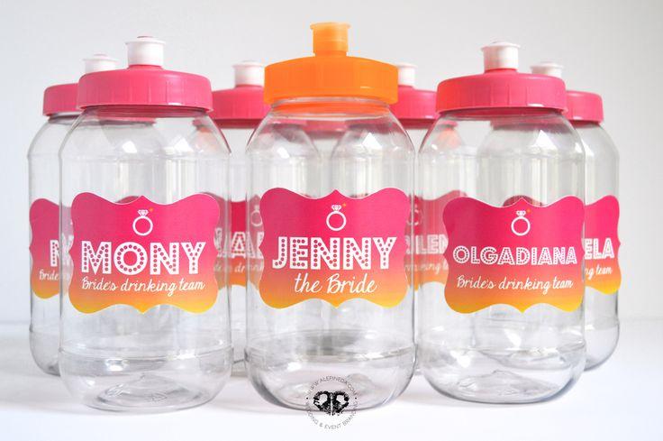 personalized plastic drink bottles bachelorette party, termos personalizados despedida de soltera