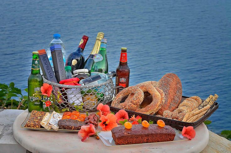 A welcome #hamper with local and not only delicacies   #Service #Luxury #Corfu #Villa   Photo (C) Menelaos Sykovelis