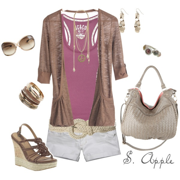 Cool Brown Cardigan, created by sapple324 on Polyvore