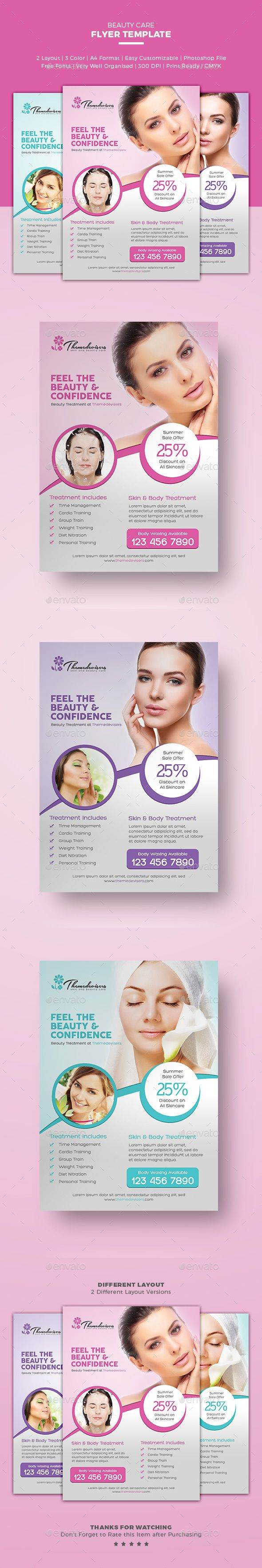 Beauty Care Flyer | Download https://graphicriver.net/item/beauty-care-flyer/16185376?ref=themedevisers