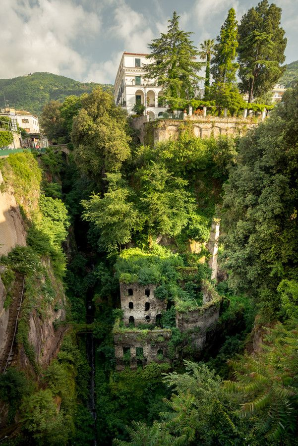The old mill in Sorrento, Province of Naples , Campania region Italy .