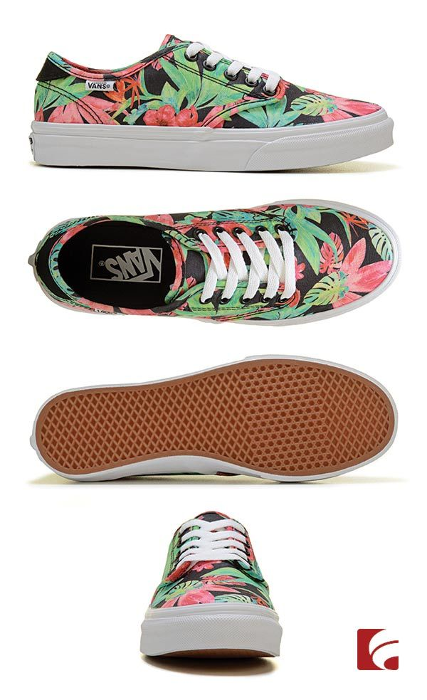 Tropical feet are happy feet. This print screams summer and gives you a stand-out shoe style to wear with you favorite casual outfits. We especially love these Vans for hanging out at the mall or skate park.