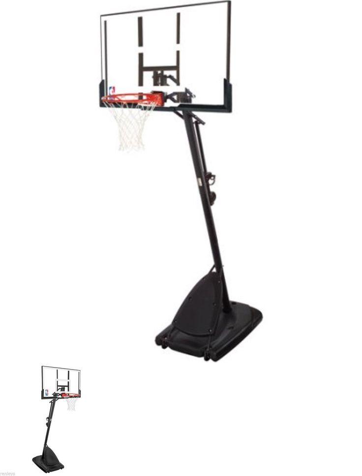 Backboard Systems 21196: Spalding 54 Portable Basketball System Adjustable Hoop Backboard Net Pole 66291 -> BUY IT NOW ONLY: $226.96 on eBay!