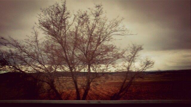 Carretera de Albacete a Valencia.