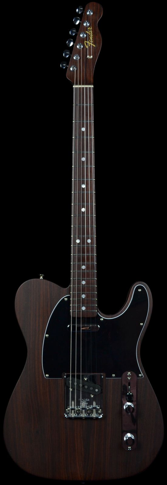 "The first Rosewood Telecaster was given to George Harrison as a gift from Fender to be used in the Beatles movie ""Let It Be"" 1969. Its production ran from 1969 to 1972"