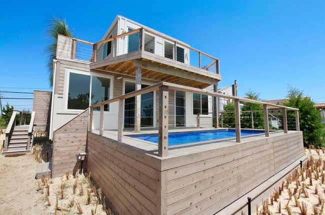 Casas hechas con contenedores (en la playa)                                                                                                                                                     Más