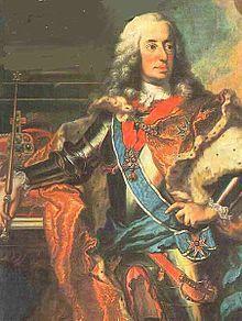 Karl Albrecht von Bayern (6. August 1697 - 20. Januar 1745) aus dem Haus Wittelsbach; war von 1726 - 1745 Karl I Kurfürst und Herzog von Bayern 1722 heiratete Amalie, Tochter Kaiser Josephs I. 1740 starb der letzte männliche Habsburger Karl VI. Karl Albrecht machte nun Erbansprüche auf Österreich gelten, während sich Kaisertochter Maria Theresia auf weibliches Erbrecht bezog. Letzlich blieb alles beim Alten.
