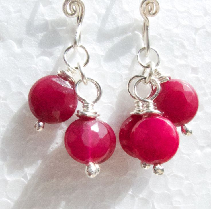 A personal favourite from my Etsy shop https://www.etsy.com/au/listing/254301598/silver-drop-earrings-faceted-red-jade