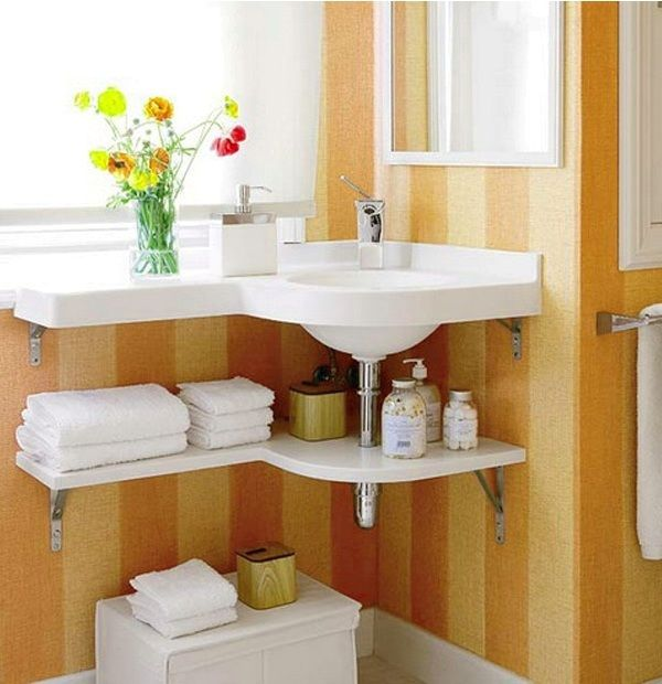 17 best ideas for small bathrooms on pinterest small for Extra small bathroom ideas