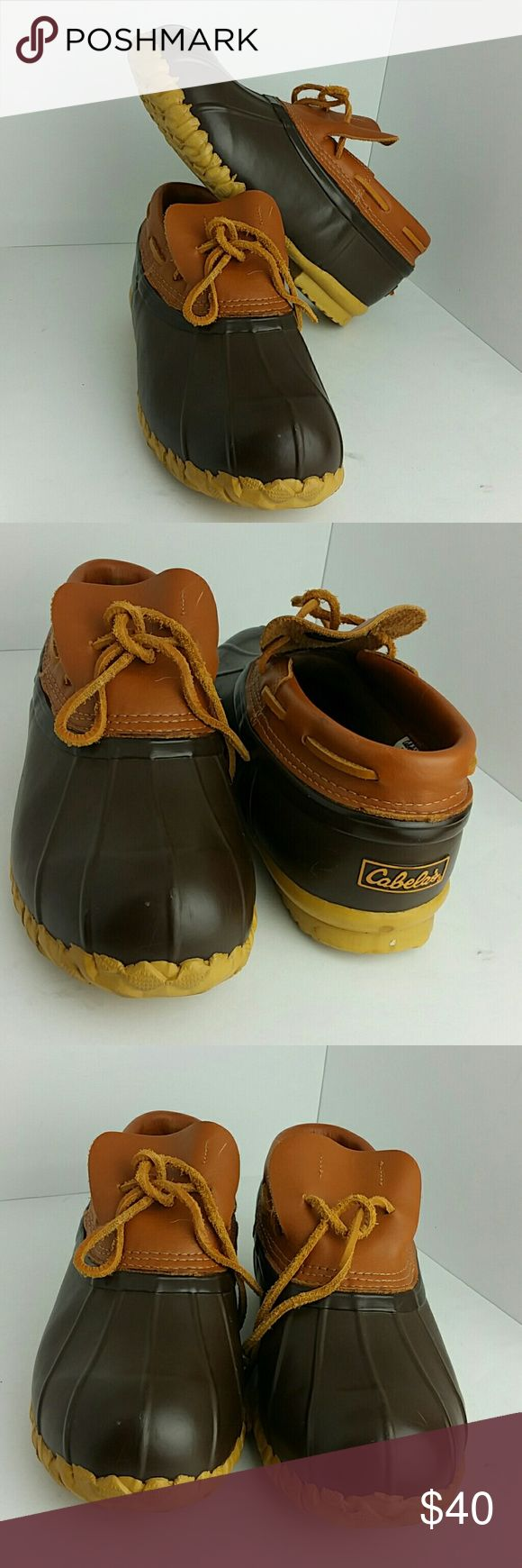 CABELAS MENS DUCK BOOT VERY CLEAN INSIDE-OUT   SKE # KF cabelas Shoes Boots