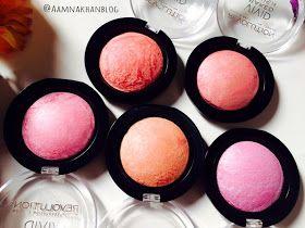 AamnaKhanBlog: Makeup Revolution Vivid Baked Blush REVIEW !!