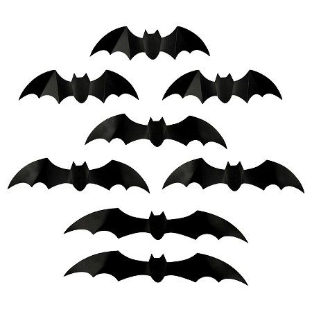 halloween dimensional bats wall art target - Bat Halloween Decorations