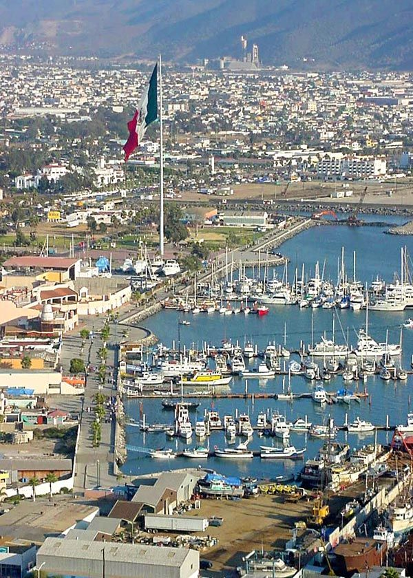 Our Hawaiian cruise ended in Ensenada, Mexico.  Came off the ship where soldiers armed with M-16s were protecting the area.