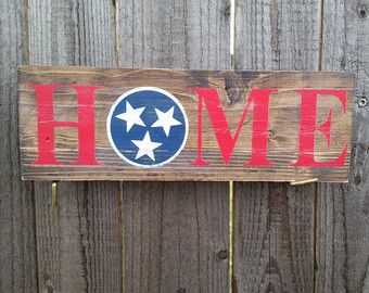 Wood signs Tennessee sign Tennessee state flag by ChristysKorner
