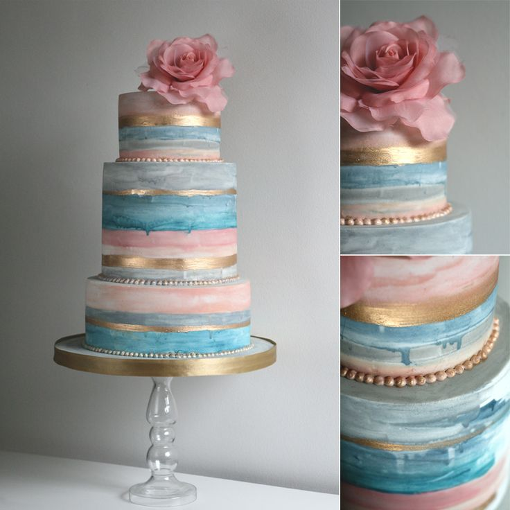 Painted Watercolour Wedding Cake from Olofson Design.  Please ask me for one!  I love the  color and the slight drip effect of a true watercolor painting.