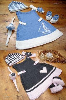 Вязаный сарафан для маленькой девочки спицами. Мастер-класс | razpetelka.ru