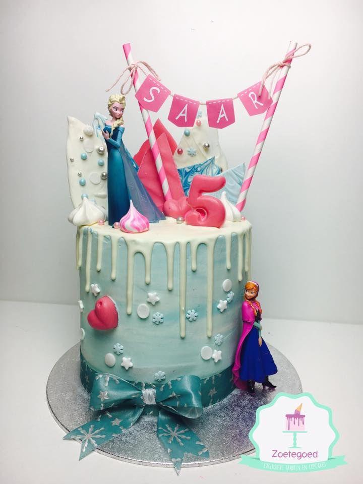 Frozen Disney Elsa Amp Anna Drip Cake Zoetegoed Taarten